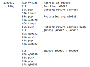 A sample of resulting assembly code.